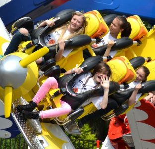 Young people on a ride