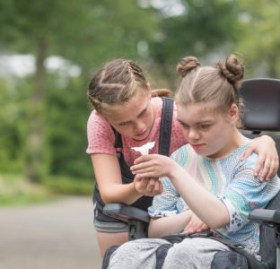A young carer with disabled sister