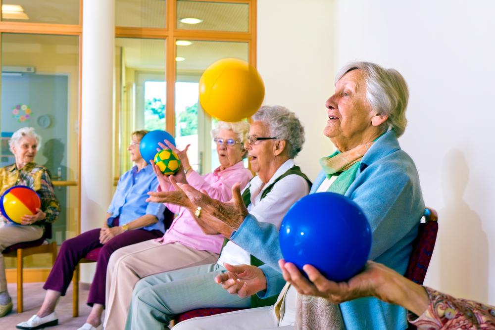Elderly enjoying activities